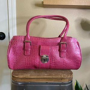 Liz Claiborne Vintage Y2K Pink Crocodile Bag